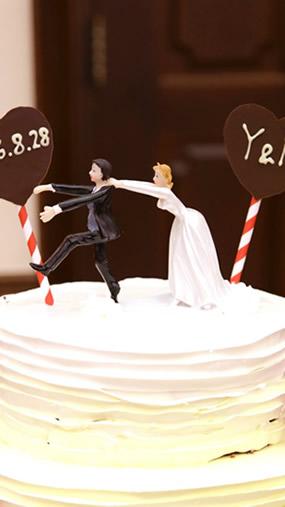写真:ウェディングケーキ